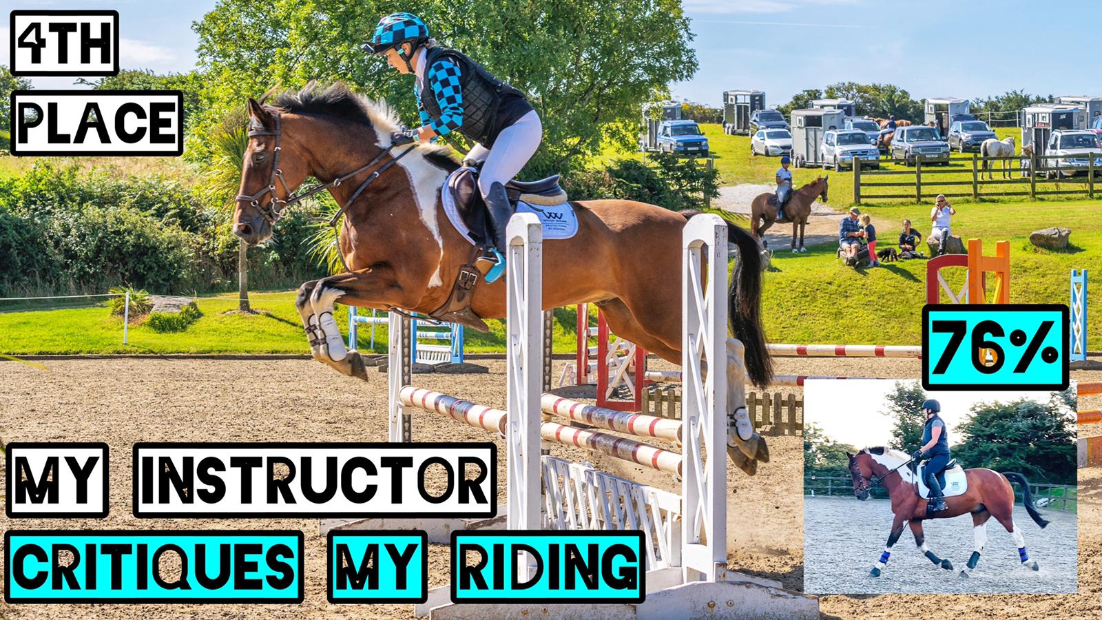 WE GOT 76% | My Instructor Critiques my Riding | Dressage Test & Arena XC