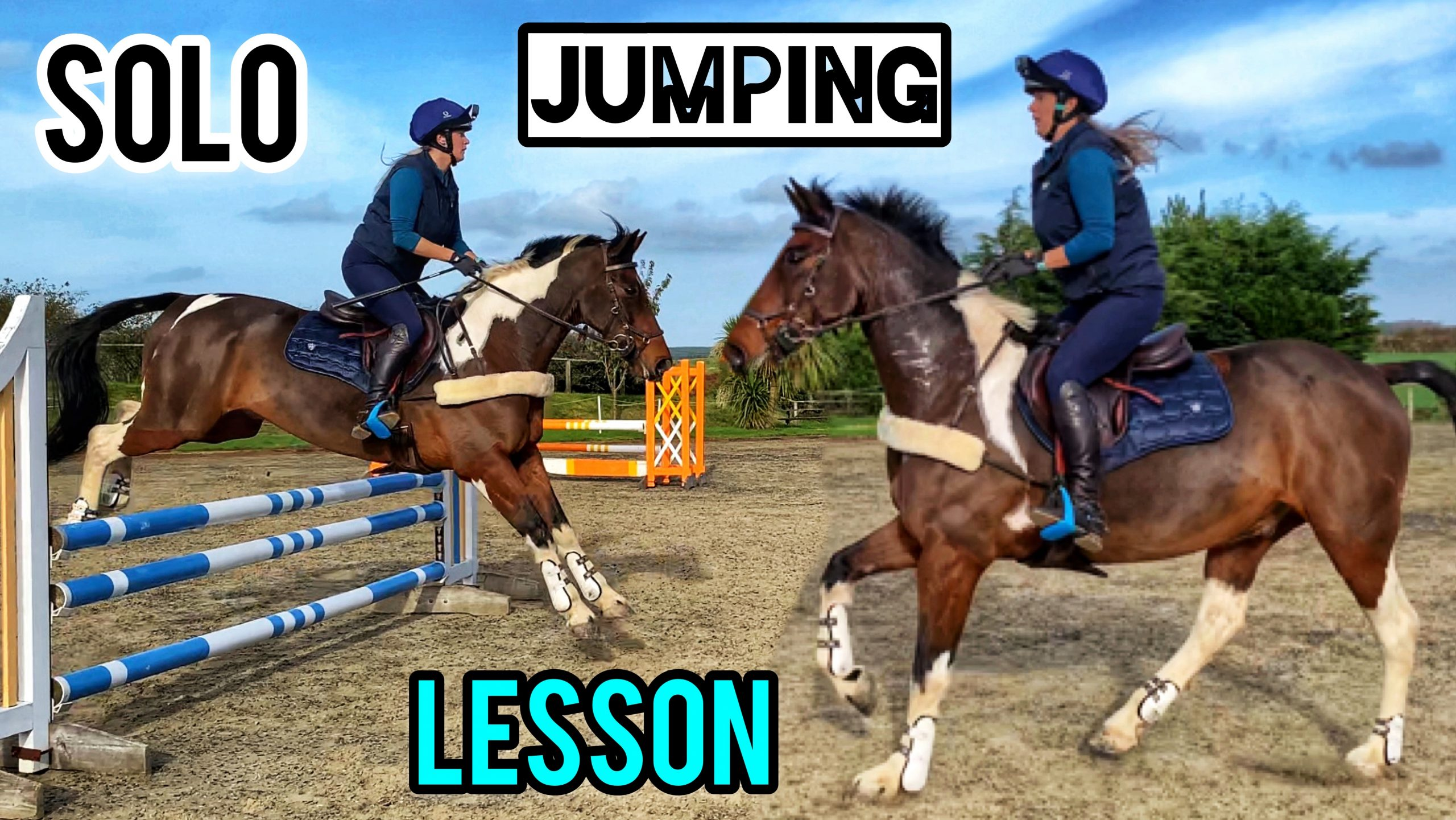 JUMPING VLOG | My first ever solo jump lesson | Working on Confidence & Competitiveness