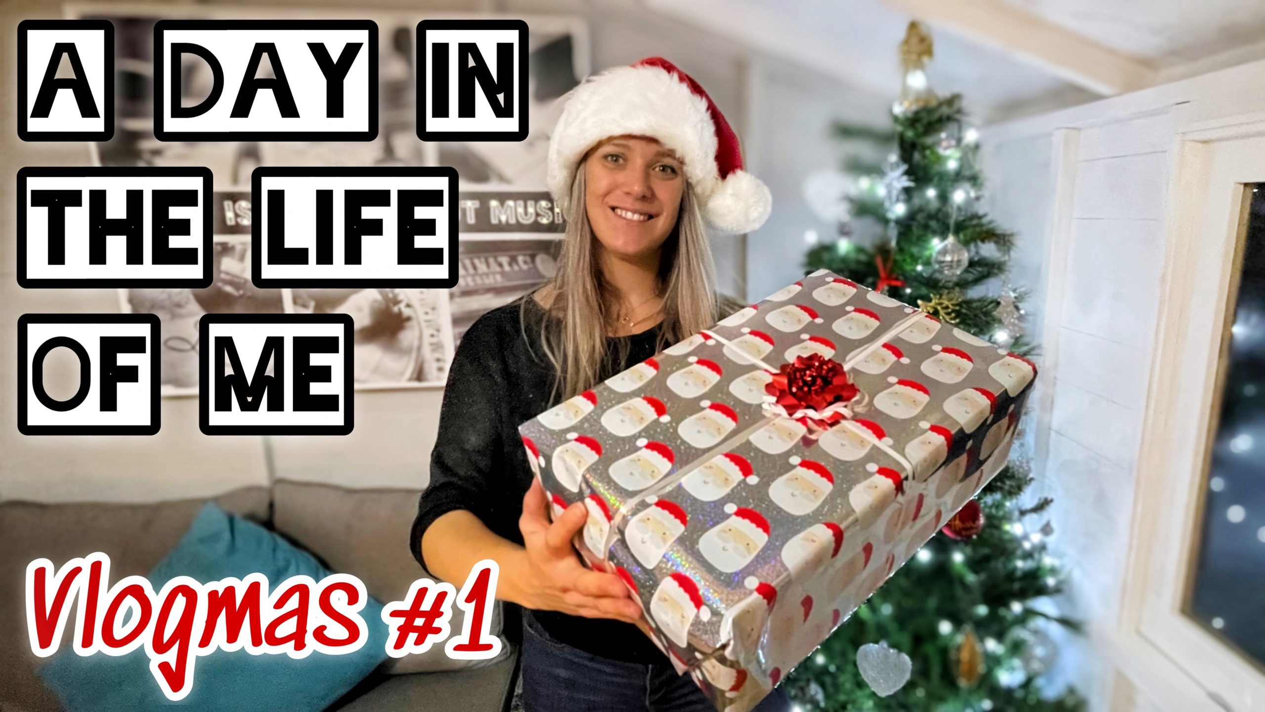 VLOGMAS DAY 1 | A day in the Life of Me + Putting up our Tree 🎄