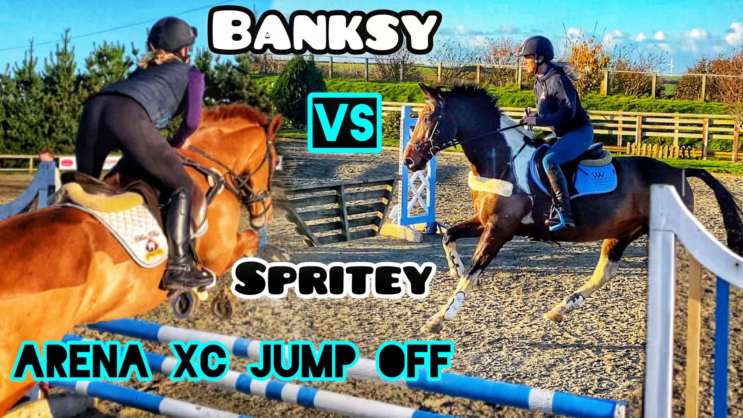 ARENA XC JUMP OFF | Banksy VS Spritey Head to Head… Who will WIN?? #EmTeeEventures